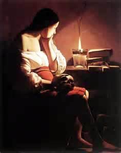 George de la Tour - Donna e candela