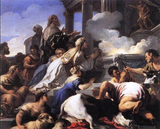 Luca-giordano-Genitori-Psiche-offrono-sacrificio-Apollo