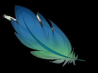 piuma-blu