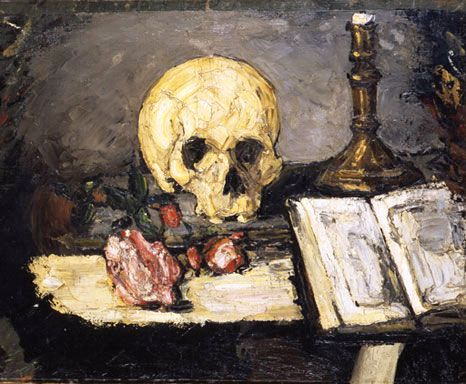 Cezanne-natura-morta-teschio-candeliere