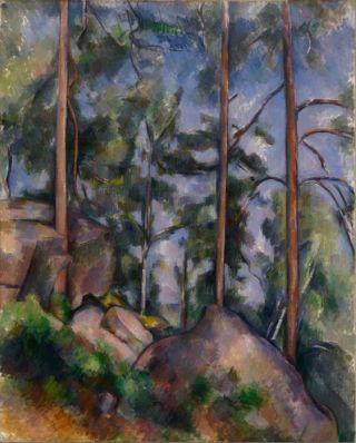 Cezanne-pini-e-rocce