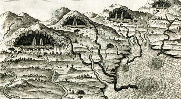 Kircher-Mundus-subterraneaus-caverne