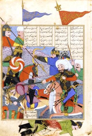Shah-name-battle-afrasyab-khusraw