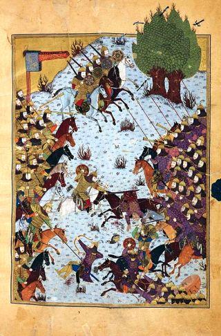 Shah-nameh-battle-scene