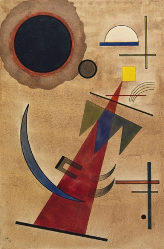 Kandinsky-rot-in-spitzform