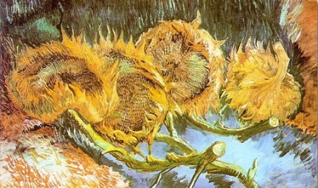 Van Gogh-Quattro-girasoli-recisi