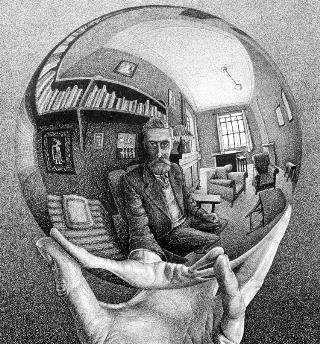 Escher-mano-sfera