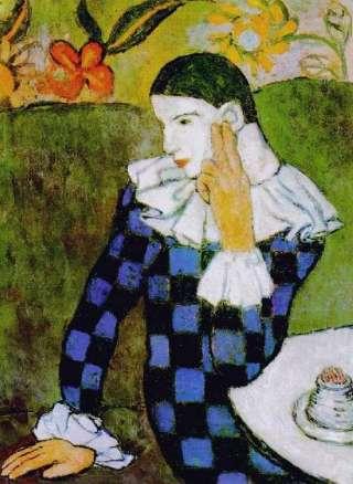 Picasso-Arlecchino-pensoso