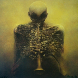 Beksinski-horn-player