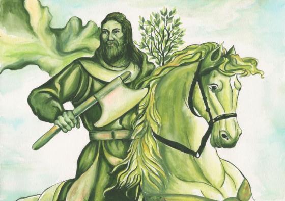 Cavaliere-verde-2