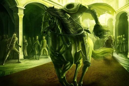 Cavaliere-verde-decaput