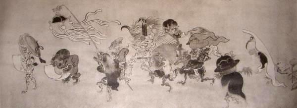Tosa-Mitsunobu-corteo-demoni