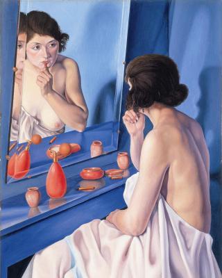 Cagnaccio-donna-specchio
