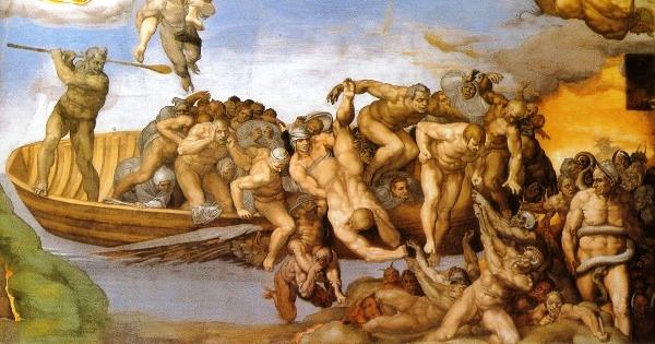Michelangelo-Giudizio-universale-Caronte