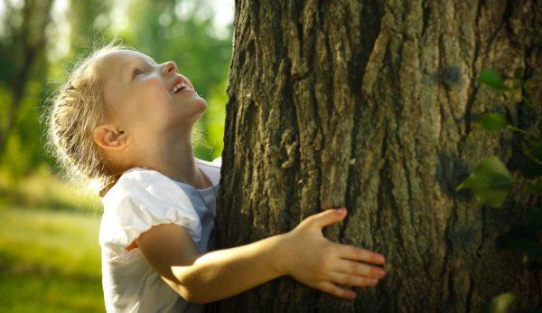 bambina-albero