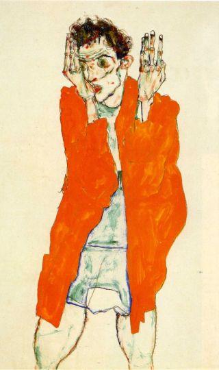 Egon Schiele-autoritratto-mutande