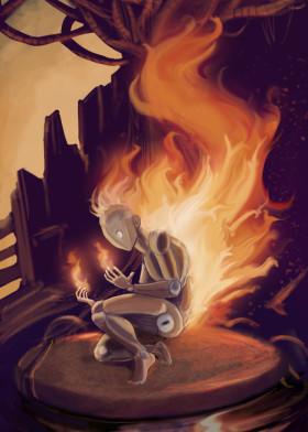 surreal-manichino-brucia