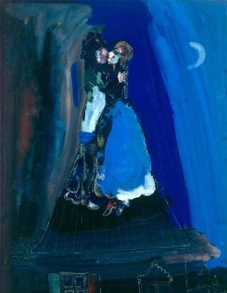 Chagall-amanti-tetto