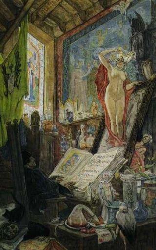 Félicien-Rops-incantesimo-Faust