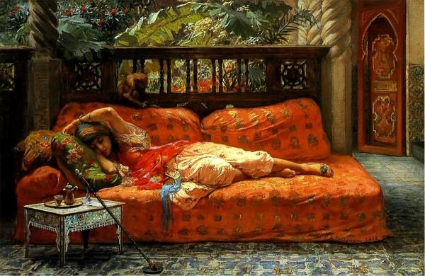 oriental-woman-resting