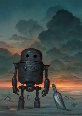surreal-solitario-robot
