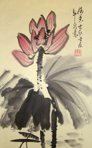 chinese-lotus-painting