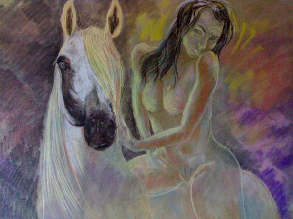 donna-nuda-cavallo