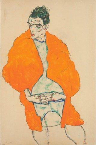 Egon Schiele-autoritratto-femminile