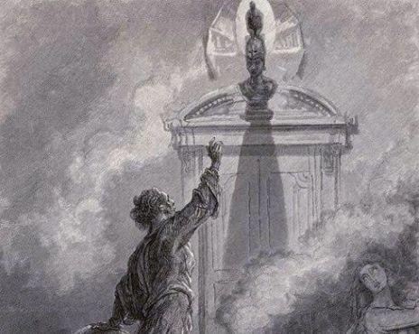 Poe-corvo-busto