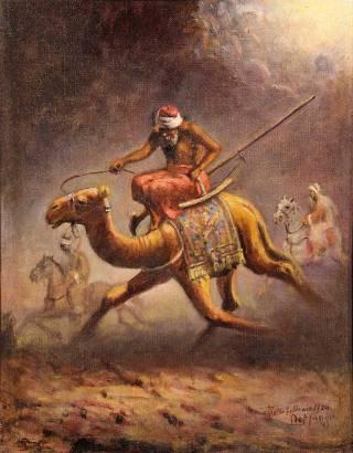 Leonardo De Mango - Turco sul Cammello - Tecnica: Olio su tela 40 x 30 cm