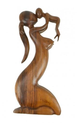 statua-maternita-legno