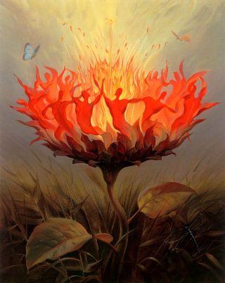 surreal-fiore-fuoco
