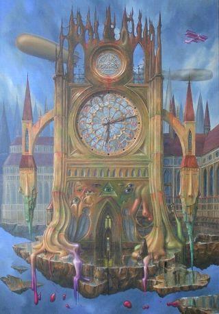 surreal-orologio-gotico