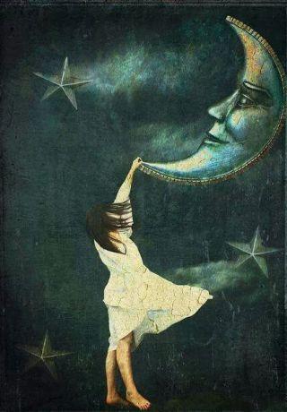 bambina-appesa-luna
