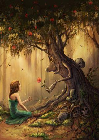 ragazza-albero-parlano