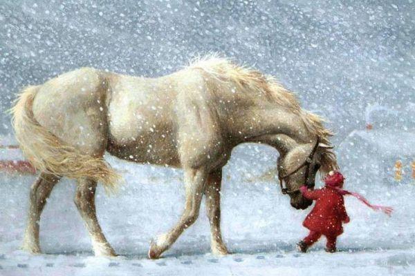 bimbo-cavallo-neve
