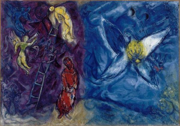 Chagall-sogno-Giacobbe