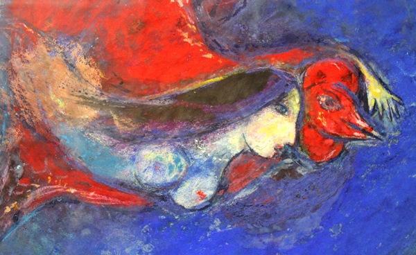 Chagall-sposa-volante