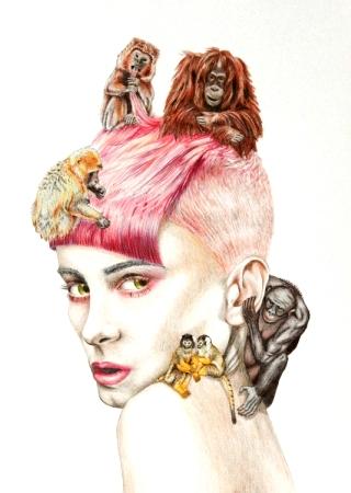 donna-con-scimmie