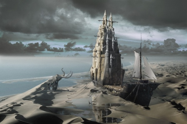 The Sand Castle | illusionary fantasy superrealism