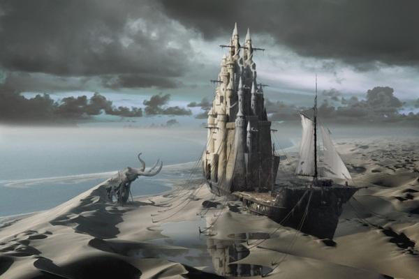 The Sand Castle | illusionary fantasy superrealism