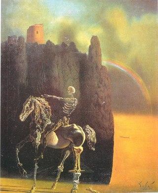 Dalì-cavaliere-morte-arcobaleno