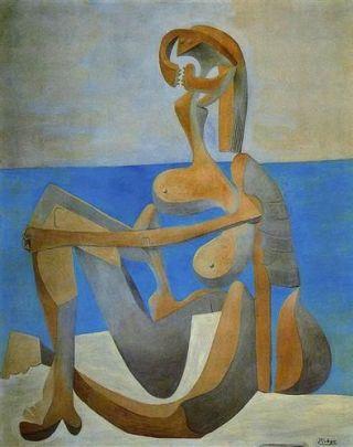 Picasso-donna-spiaggia