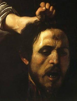 Caravaggio-testa-Golia-dettaglio