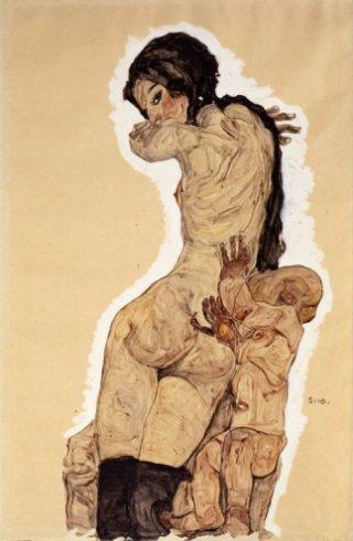 Egon Schiele-donna-homunculus