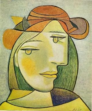 Picasso-donna-arancio