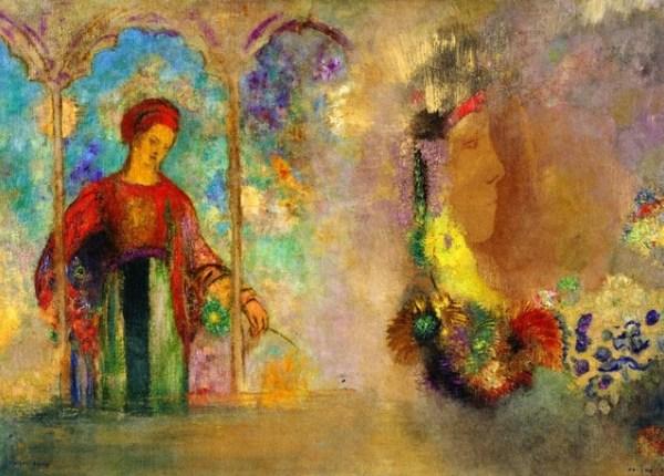 Redon-donna-raccoglie-fiori