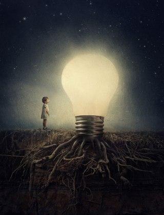 surreal-bambino-lampadina