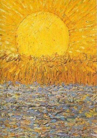 Van Gogh-sole-tramonto