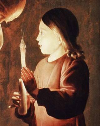 George de la Tour - Bambino con candela